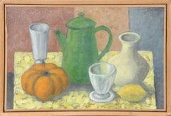 Cafetiere, Citrouille, Citron, Vase et Goblet by Laurent Marcel Salinas