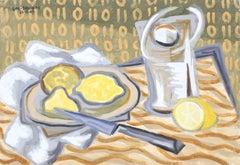 Lemon Still Life by Laurent Marcel Salinas 1949