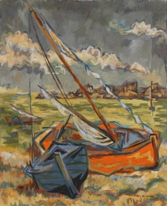 Sailboats on Shore