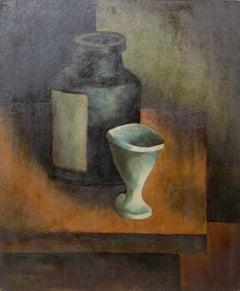 Vase Still Life Painting by Laurent Marcel Salinas 1942