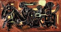 Black panic, Painting, Oil on Canvas