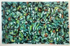 Green panic, Painting, Oil on Canvas