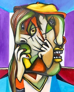The mask, Painting, Oil on Canvas