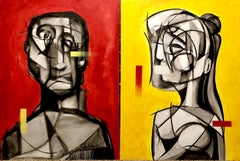 Them (diptych), Painting, Oil on Canvas