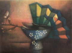 """La Branche Cerise"" Limited Edition Serigraph, 68/80, Pencil-signed by Artist"