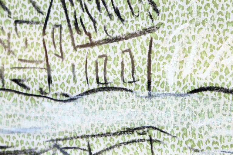 Fabric 5, Oil Painting on Fabric by Laurie Anderson  For Sale 1