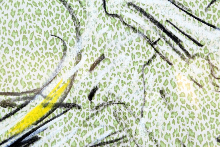 Fabric 5, Oil Painting on Fabric by Laurie Anderson  For Sale 2
