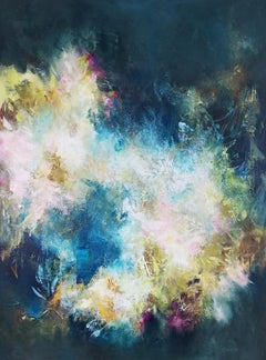 Chrysalis Happenings - Contemporary Abstract (Blue + Yellow + White)