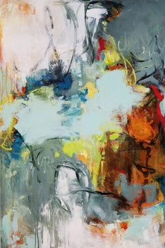 She Chose to Write Her Own Story- Gestural Contemporary Colorful Abstraction