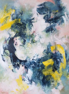 The Dream - Contemporary Abstract (Blue + Yellow + White)