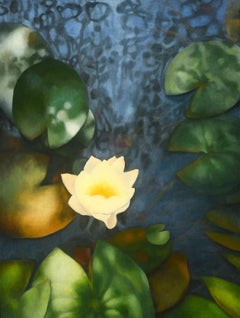 'Night Swimming' Contemporary Realist Water-Themed Oil Painting on Canvas