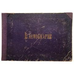 L'Autographe au Salon de 1865 By Pigalle , Bureaux du Figaro