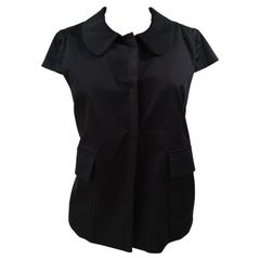 L'Autre Chose black shirt - sleeveless jacket