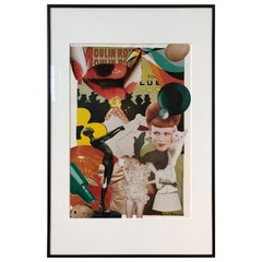 """""""Lautrec no. 4"""" Handcut Collage by Mary Lewey"""