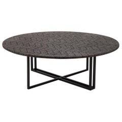 LAVA Coffee Table, Metal and Volcanic Rock