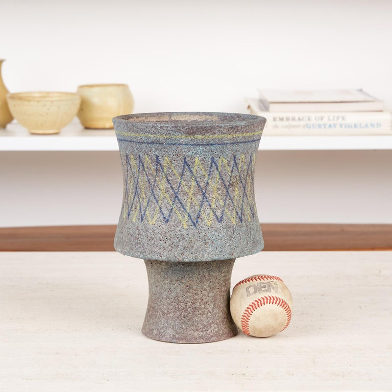 Mid-Century Modern Lava Glaze Vessel by Aldo Londi for Bitossi For Sale