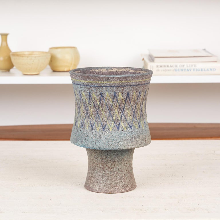 Italian Lava Glaze Vessel by Aldo Londi for Bitossi For Sale