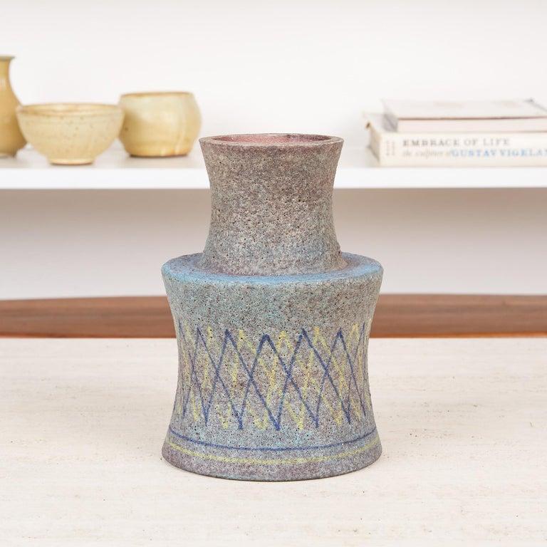 Mid-20th Century Lava Glaze Vessel by Aldo Londi for Bitossi For Sale