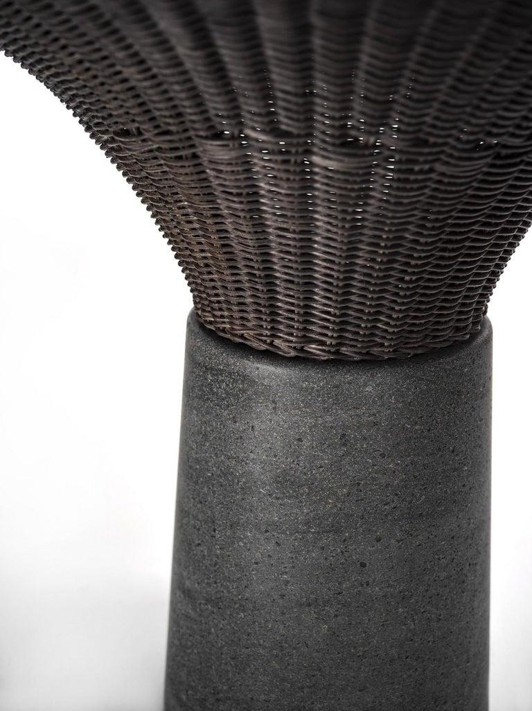 Hand-Woven Lava Stone
