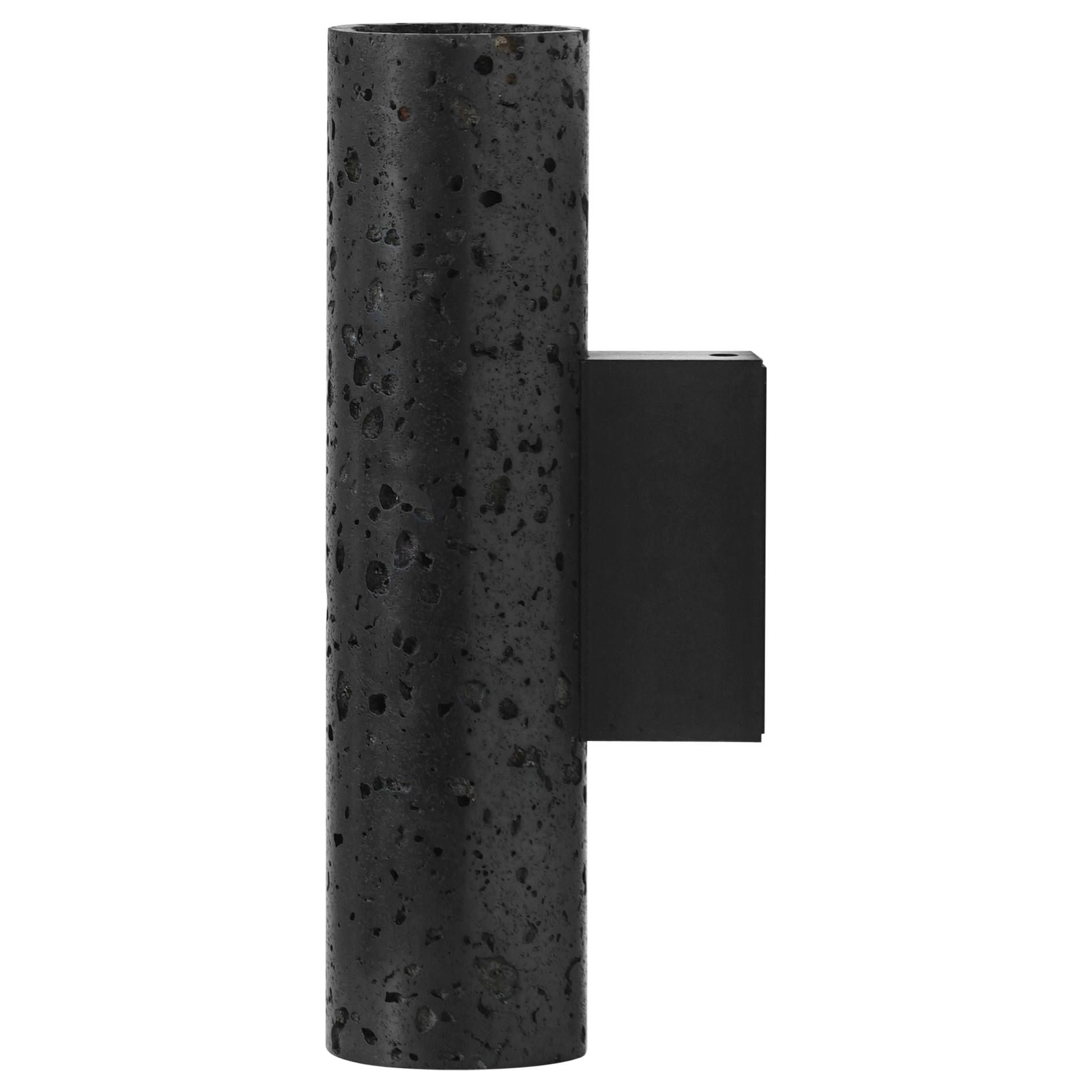 """Lava Stone and Aluminum Wall Lamp, """"W01,"""" by Buzao"""