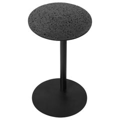 "Lava Stone and Powder-Coated Steel Side Table, ""Right,"" by Buzao"