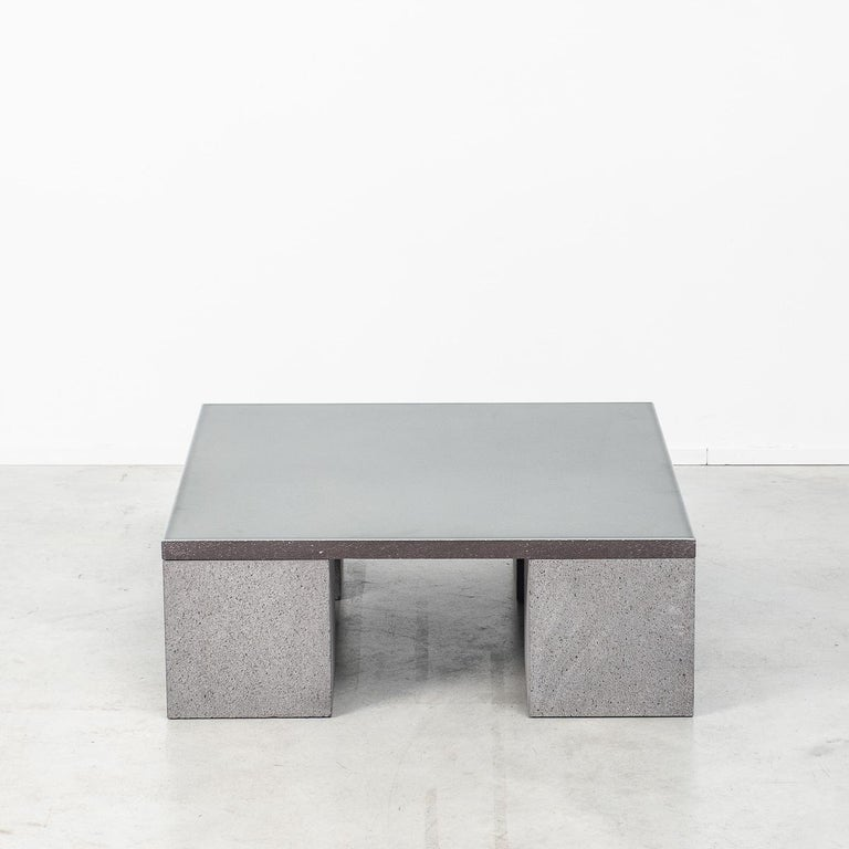 British Lava Stone Sculptor's Coffee Table Designed by Faye Toogood, UK For Sale