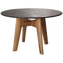 Lava Table, Teak Wood and Volcanic Rock