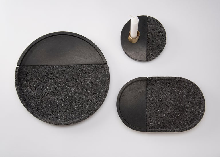 Mexican Lava Trays Set, Volcanic Rock For Sale