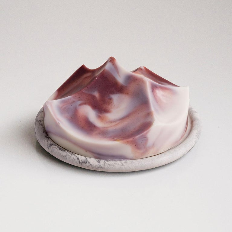Lavender Creme, Hand-Poured Soap, Erode Series by UMÉ Studio In New Condition For Sale In Oakland, CA
