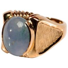 Lavender Jade Men's Ring in Rose Gold Midcentury