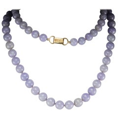 Lavender Jade Necklace by Ming's of Hawaii