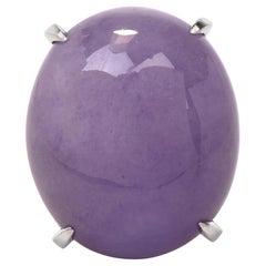 Lavender Jade Platinum Cocktail Dome Ring
