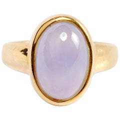 Lavender Jade Ring Midcentury English Certified Untreated