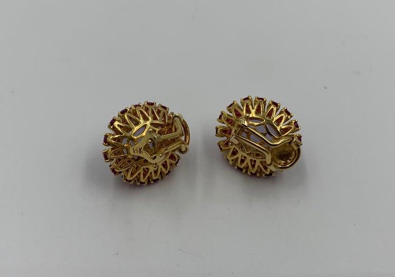 Lavender Jade Ruby 64 Diamond Necklace Earrings 17 Carat Jade Ring Suite Parure For Sale 5
