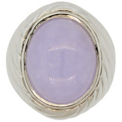 Lavender Jadeite Jade Platinum Cocktail Ring