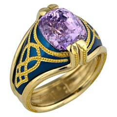 Lavender Sapphire Ring in Blue and Gold by Zoltan David