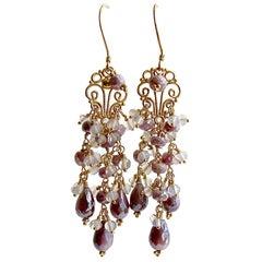 Lavendel Silberit Opal Moon Quarz Ohrringe, Veronique Ohrringe