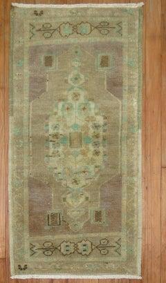 Lavender Wool Turkish Oushak Throw Mat Size 20th Century Rug