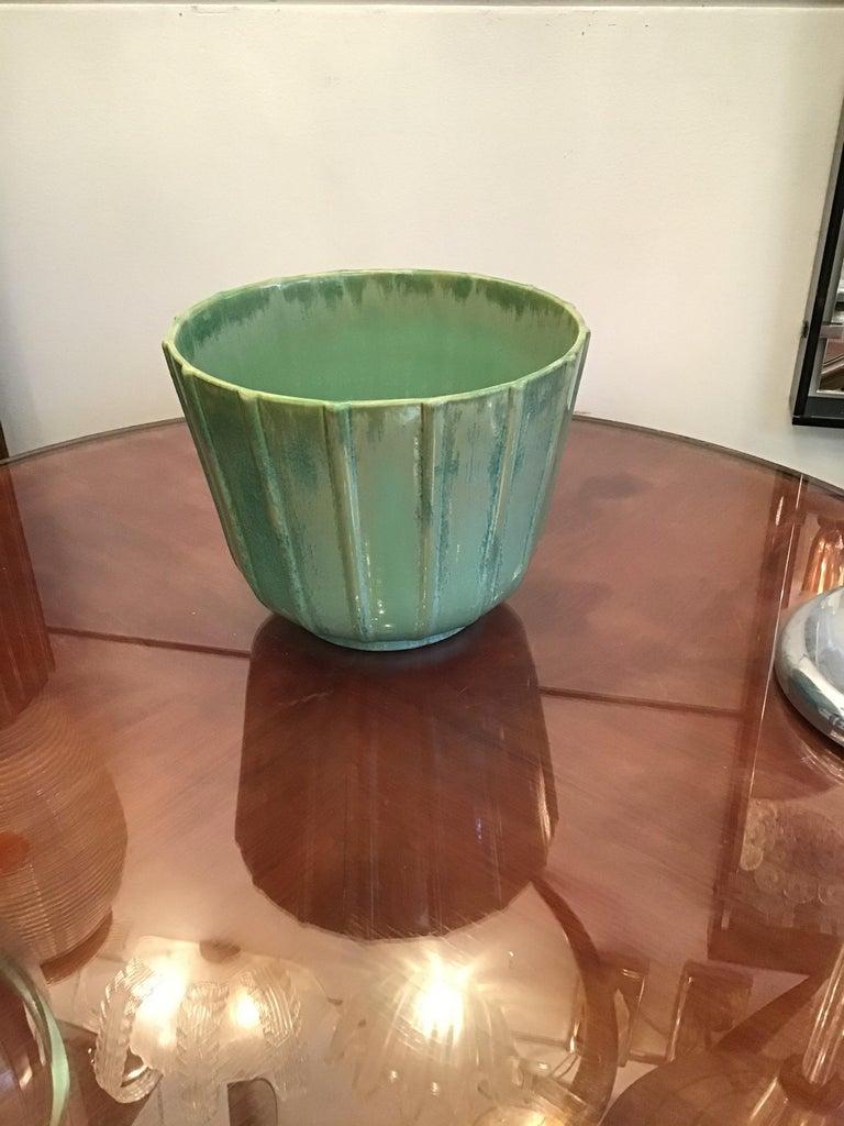 Lavenia vase holder ceramic, 1930, Italy.