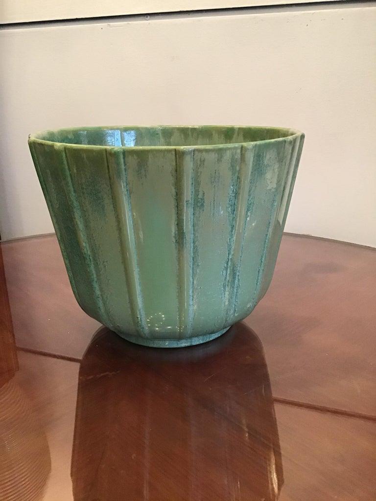 Art Deco Lavenia Vase Holder Ceramic, 1930, Italy For Sale