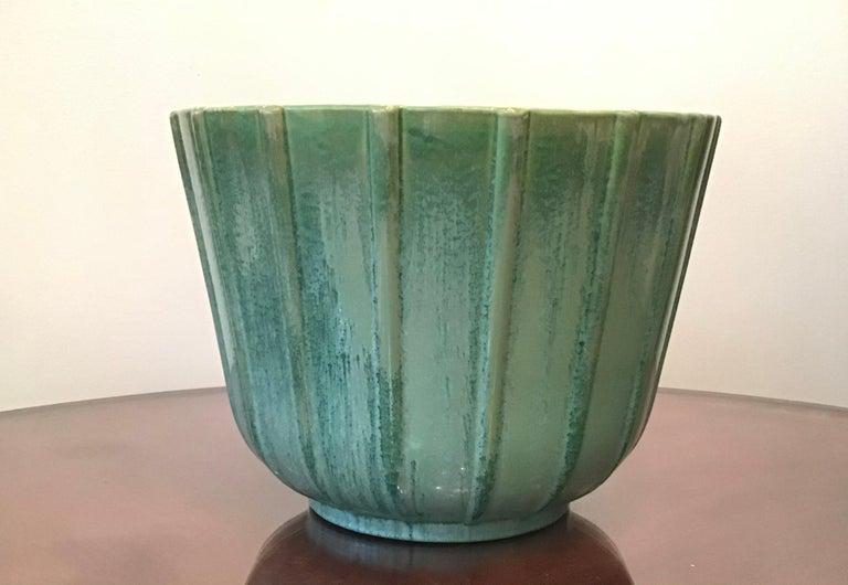 Italian Lavenia Vase Holder Ceramic, 1930, Italy For Sale
