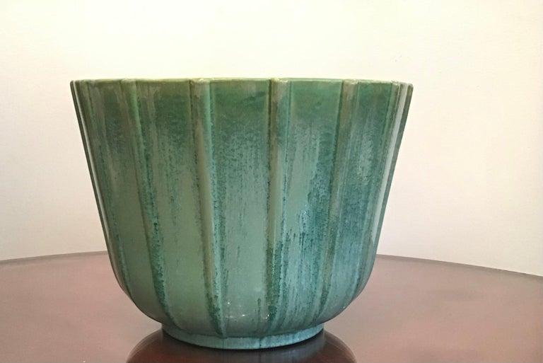 Lavenia Vase Holder Ceramic, 1930, Italy In Excellent Condition For Sale In Milano, IT