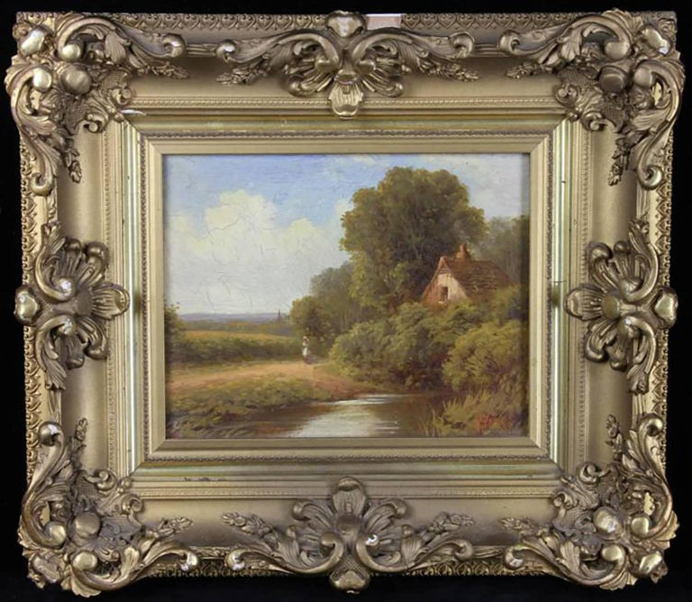 "Signed A. LaVera, LaVera Ann Pohl (1901-1981), Mediterranean landscape, oil on canvas, signed L/R, 30"" x 40"", frame 32"" x 43"".   Biography of Lavera Ann POHL (1901-1981)  Birth place: Port Washington, WI  Profession: Painter, writer, lecturer,"