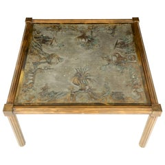 LaVerne Coffee Table with Unique Urn Motif