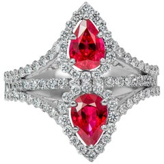 Laviere Burmese Ruby and Diamond Ring