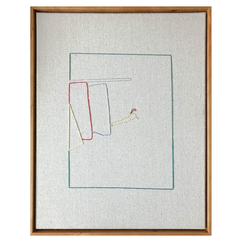 Lawn, Hand Stitched Canvas, Cherrywood Frame