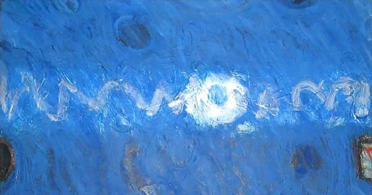 Lawrence Calcagno, Blue Painting, acrylic on canvas, 1971 For Sale 1