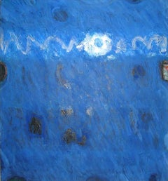 Lawrence Calcagno, Blue Painting, acrylic on canvas, 1971