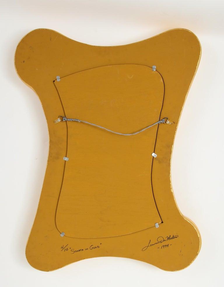 Lawrence De Martino 24-Karat Gold Leaf Mirror For Sale 7
