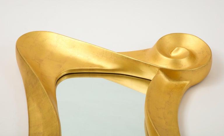 Lawrence De Martino 24-Karat Gold Leaf Mirror For Sale 1
